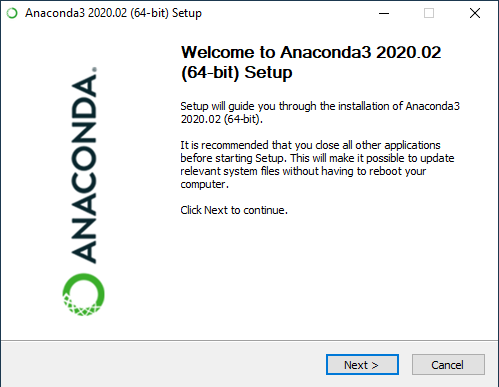 Initial Anaconda Install Screen